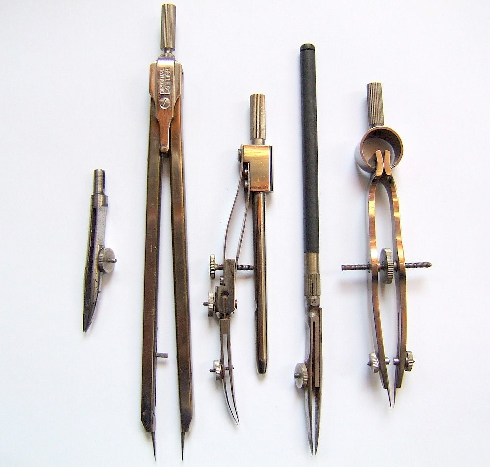 how to use vintage drafting tools