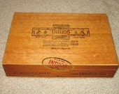 Puros Indios Natural Wood Cigar Box