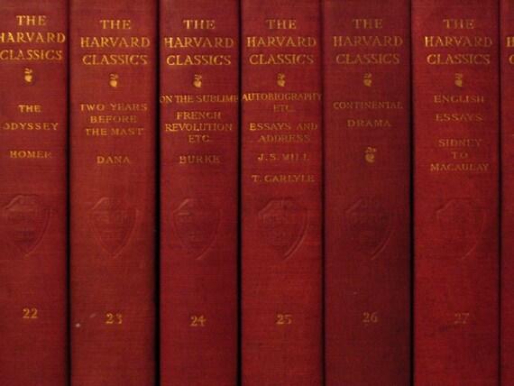 Antique Harvard Classics Five Foot Shelf of Books
