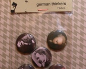 German Thinkers - set of five 1 inch buttons