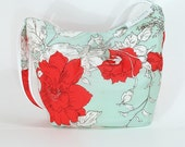 Vintage Scarf Purse with Butterfly