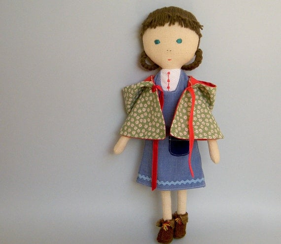 Handmade doll - Summer flower