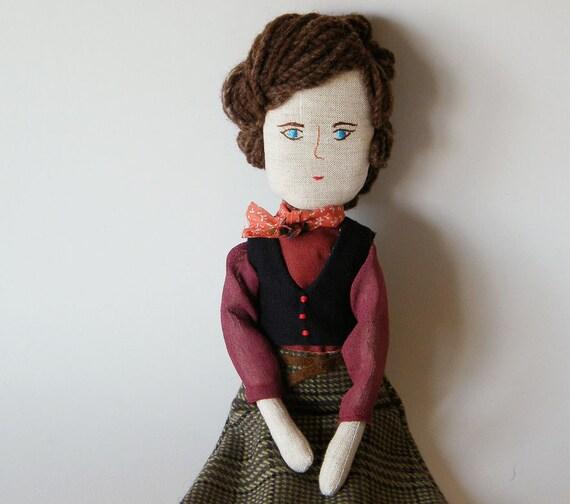 SALE - Handmade doll - Henriqueta