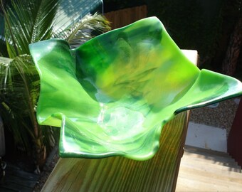 SLUMPED BOWL fused glass design