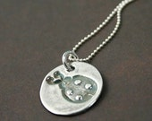 Itty Bitty Beetle Bug - Fine Silver Necklace
