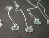 Darling Dot Pendants - Fine Silver and Freshwater Pearl Letter Necklaces