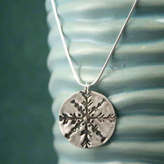 Winters Kiss - Fine Silver Snowflake Necklace