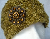 Handspun Banana Fiber Crochet Hat