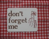 don't forget me postcard