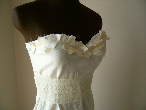 Items Similar To RESERVED Boho Chic Simple Wedding Dress