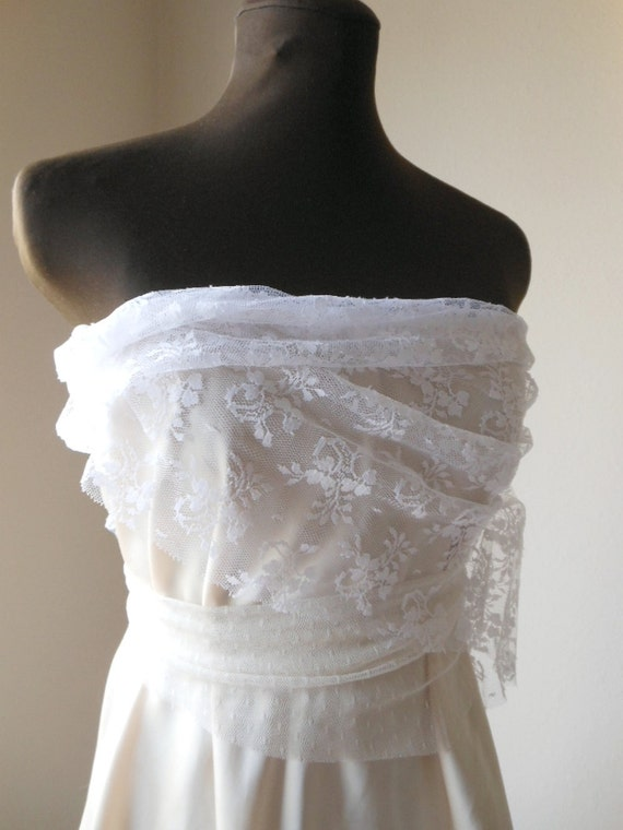 Romantic Boho Lace Wispy Wedding Dress Shabby Chic Blush Tattered Short Bespoke Faerie Woodland Pixie Rustic Bridal Gown