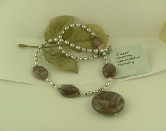 Jasper and Pearl SS Necklace-N2