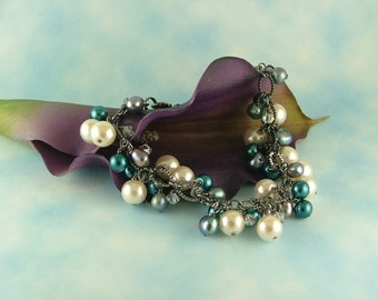 Beaded Glass Pearl Bracelet-B9