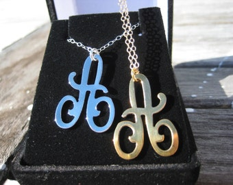 Personalized Jewelry - Initial Necklace - Monogram Initials - Gold Initial Pendant - Graduation Necklace -  Personalized Initial - BFF Gift