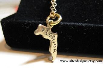 Florida State Necklace, Florida Necklace, Seminole Necklace, Gator Necklace, Florida Necklace, University of Florida Necklace, FSU Necklace