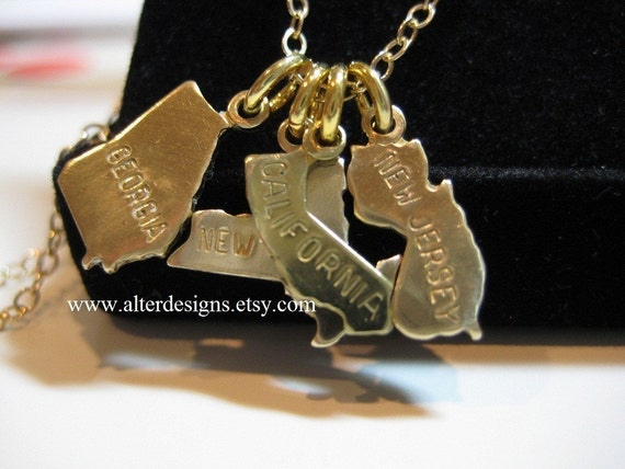 state necklaces state charms california state charm