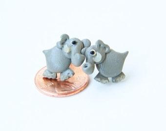 elephant post earrings