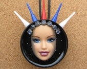The American -Upcycled Barbie Doll Pendant
