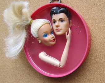 Upcycled Ken and Barbie Assemblage - Secrets
