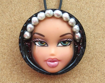 Pearl Girl -  Upcycled Bratz doll necklace