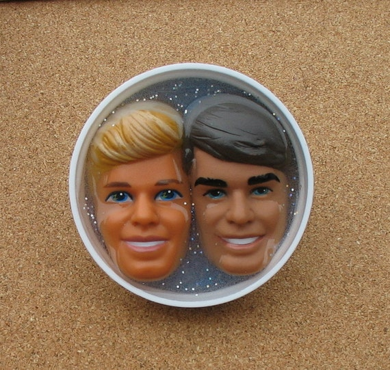 Upcycled Bottle Cap - Ken & Friend- Knuckle Ring