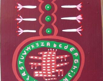 Alphabetical Aztechnical / original painting / 3474