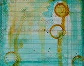 4 x 4 Original Painting by Mixed Media Artist Carmen Torbus