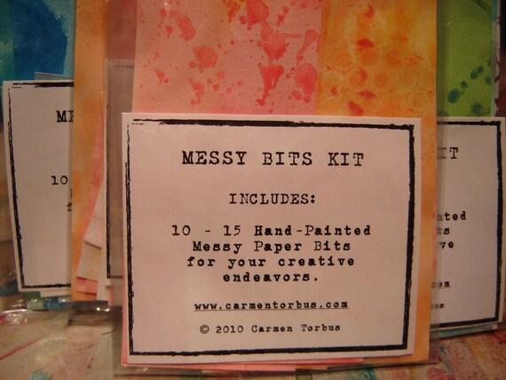 Messy Bits Kit - RED/ORANGE