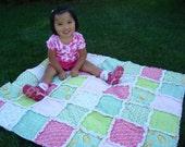 bubblegum baby rag quilt-crib size
