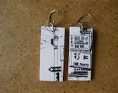 Hang Ah Dim Sum, .75x1.75 Paper and Wood Earrings
