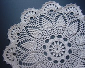 RESERVED Crocheted Doily, Large, Handmade, Beige Ecru, Home Decor
