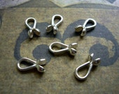 Sterling silver knot covers crimp cover endings for cords - 7mm loops - 2 pcs.