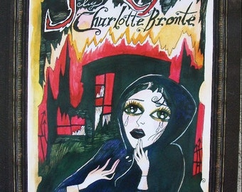 Dame Darcy Jane Eyre Poster for the Graphic Novel Charlotte Brontë