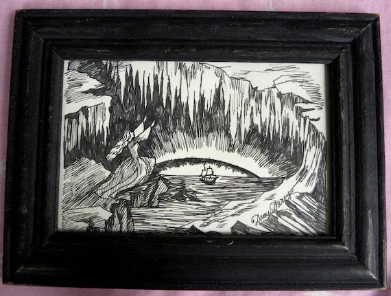 Lady Of the Ice Ship original illustration by Dame Darcy, Fine Art, Dark Fantasy