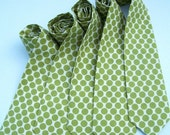 AS SEEN IN MARTHA STEWART WEDDINGS 5 Neckties for your Wedding Party Any Color Print or Size