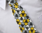 Necktie Gray and Yellow Blossoms Me and Matilda Everyday Tie