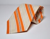 Orange and Cream Necktie for Men Boys Toddler or Baby