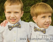 Boy's Gray and Yellow Bow Tie Toddler Bowtie