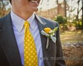Necktie, Men's Necktie, Neck Tie, Groomsmen Necktie, Ties, Tie, Wedding Neckties, Mustard Necktie, Yellow Necktie, Polka Dot, Men's Ties