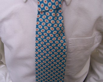 Royal Blue Necktie - Mens Tie or Boys Necktie in Blue and Orange