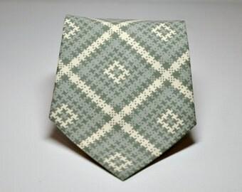 Gray Plaid Men's Necktie
