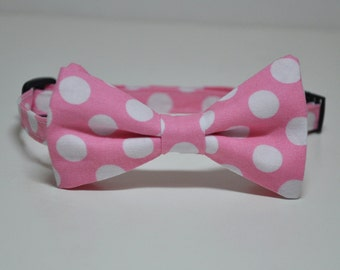 Candy Pink Polka Dot Bowtie for Boys