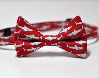 Boy's Bowtie Red Sharks Child's Tie
