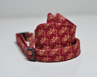 Mens Bowtie Freestyle Bow Tie for Men Red Bicycles