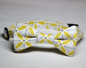 Yellow and Gray Bowtie for Little Boys