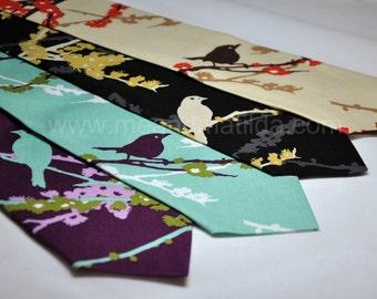 Aviary Neckties for Men or Boys - Bird Ties in Lots of Colors