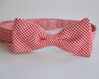 Boys Bowtie Red Houndstooth Children's Tie Valentine's Day Bow Tie