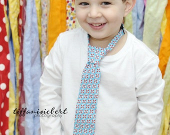 Nautical Necktie for Boys Toddlers Men and Baby Light Blue Life Rafts Tie