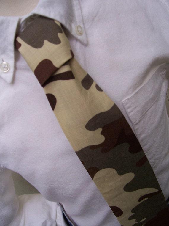 Brown Necktie for Men Me and Matilda Camouflage Tie