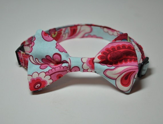Bowtie for Little Boys Pink and Blue Damask
